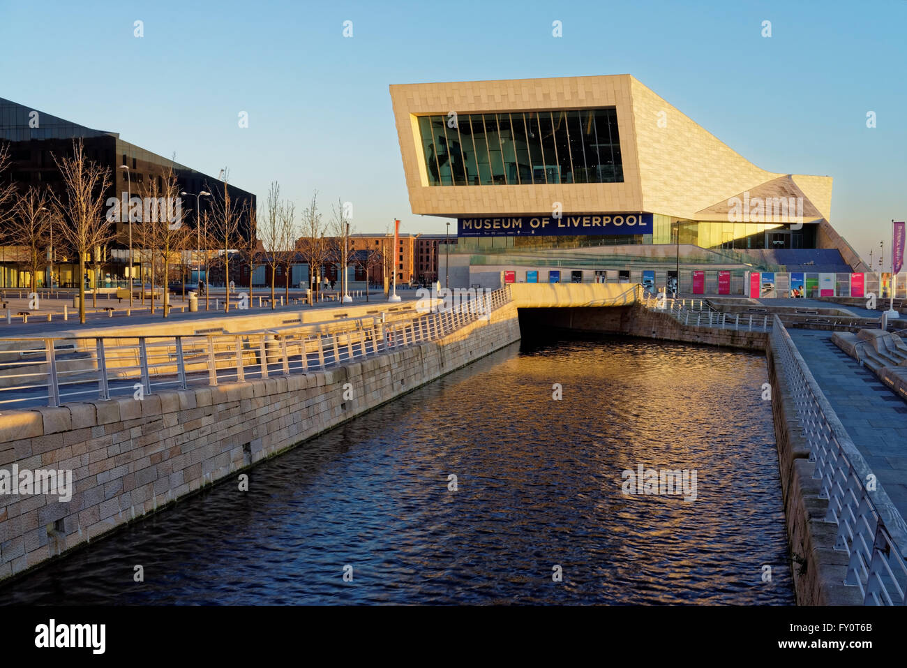 UK,Liverpool,Museum of Liverpool and Leeds-Liverpool Canal - Stock Image