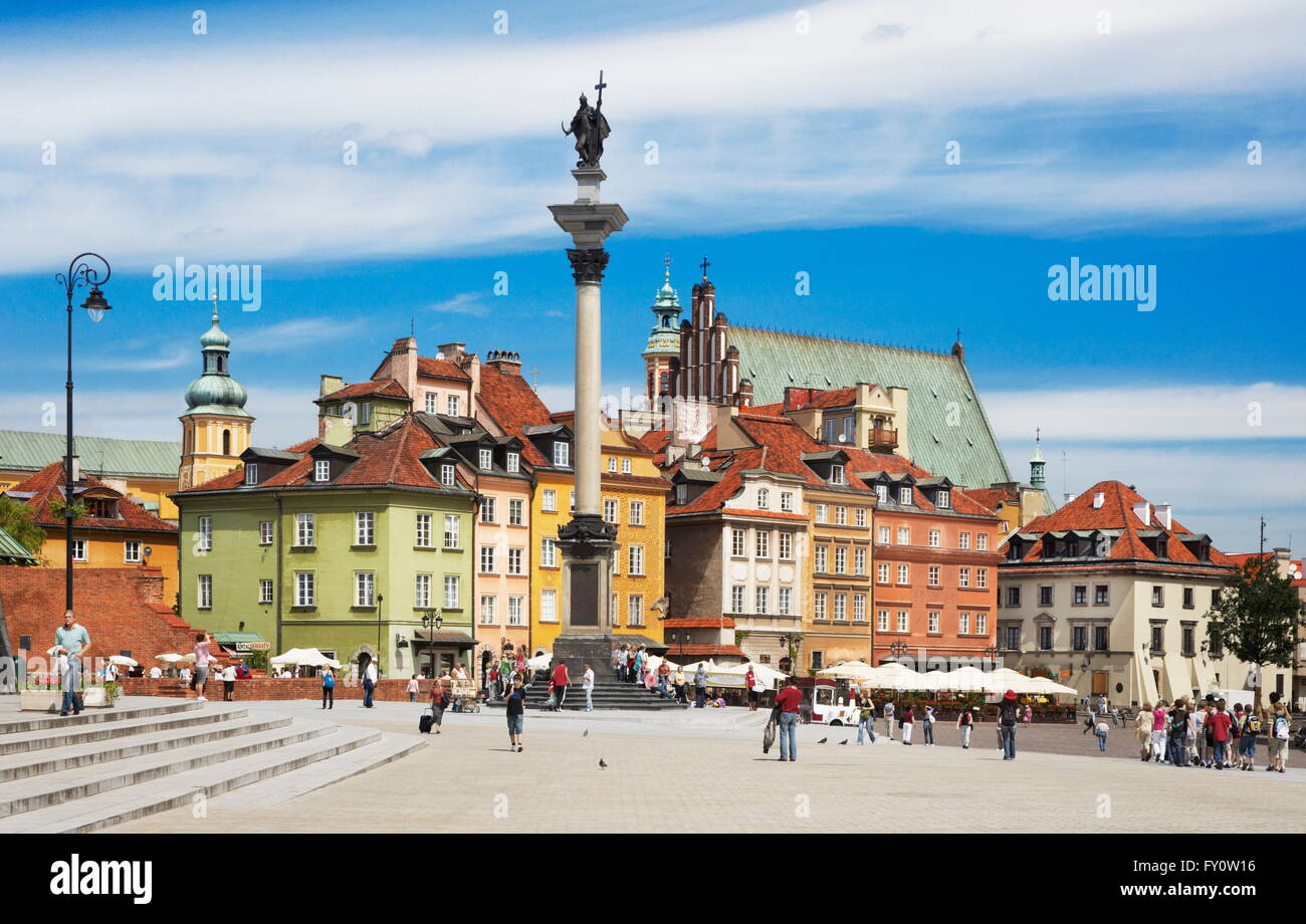 Warsaw Old Town, Poland - Stock Image