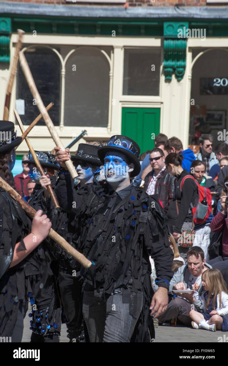 Boggart's Breakfeast Dancing Group Stockport Folk Festival  2015 Stockport Cheshire England Stock Photo