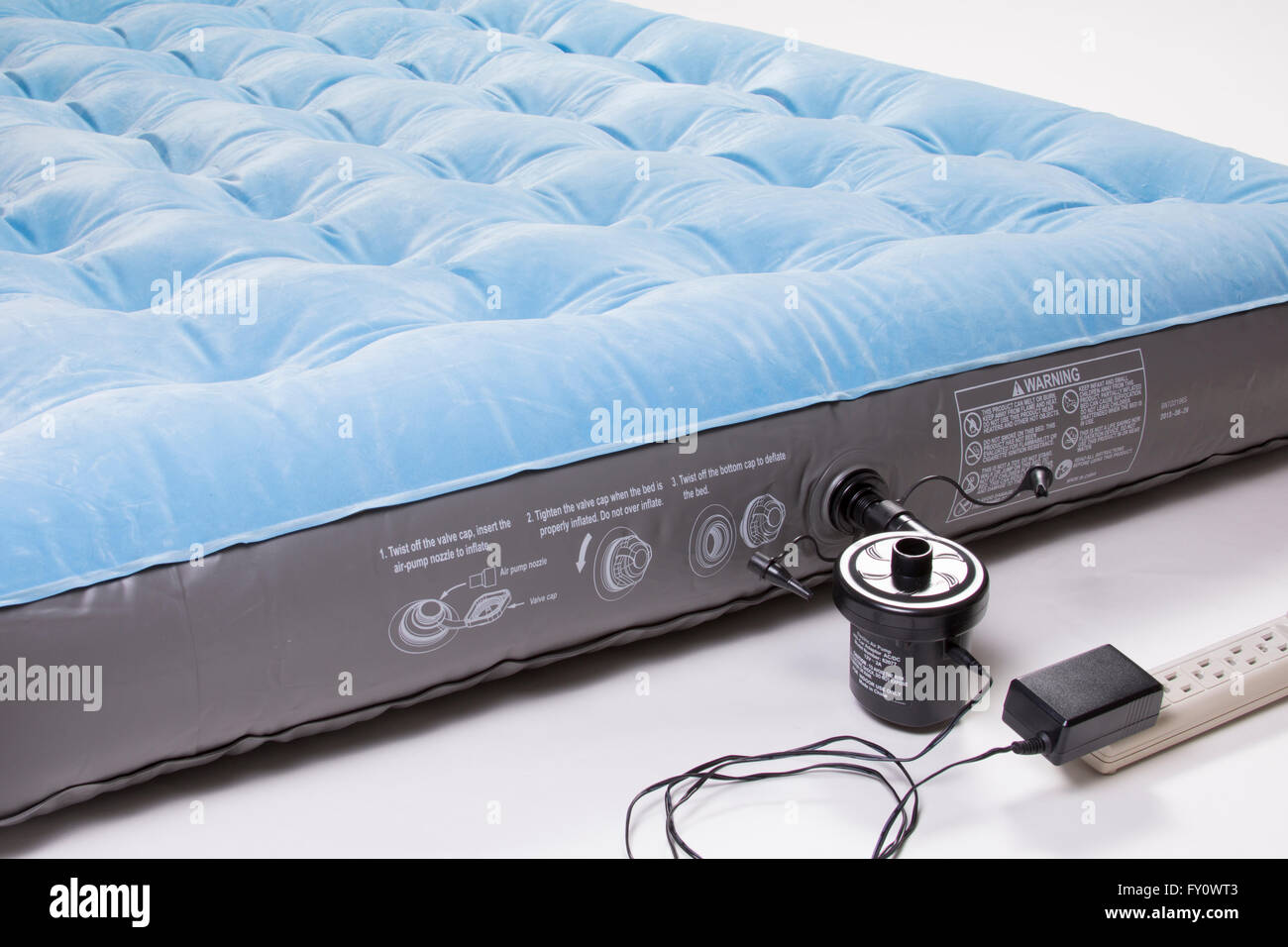 Air Mattress With Electric Pump Stock Photo 102667827 Alamy