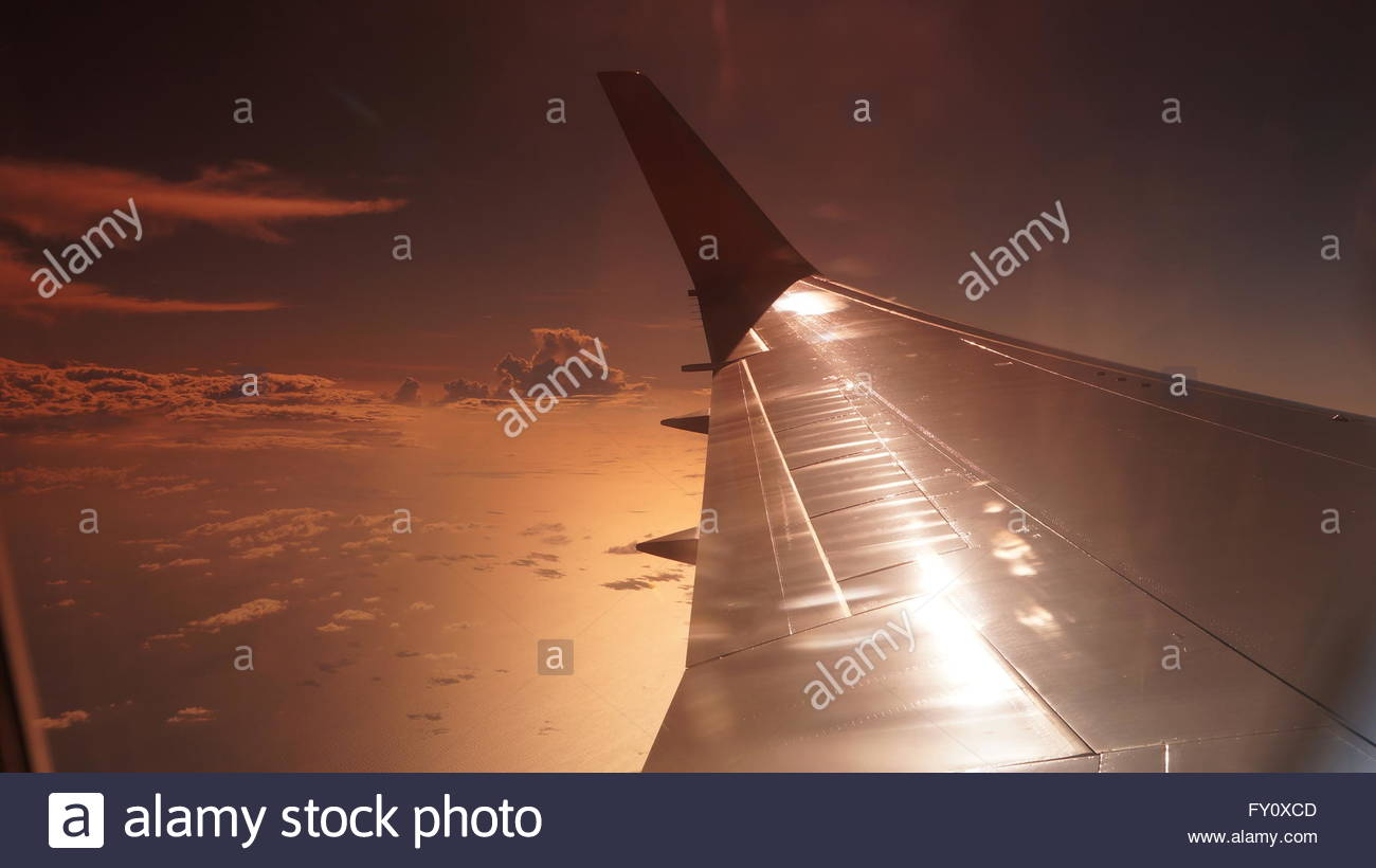 Swell Commercial Airliner Wing As Seen From The Window Seat During Machost Co Dining Chair Design Ideas Machostcouk