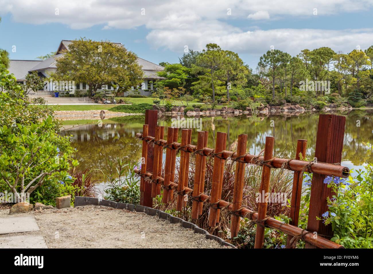 Morikami Japanese Gardens Stock Photos & Morikami Japanese Gardens ...