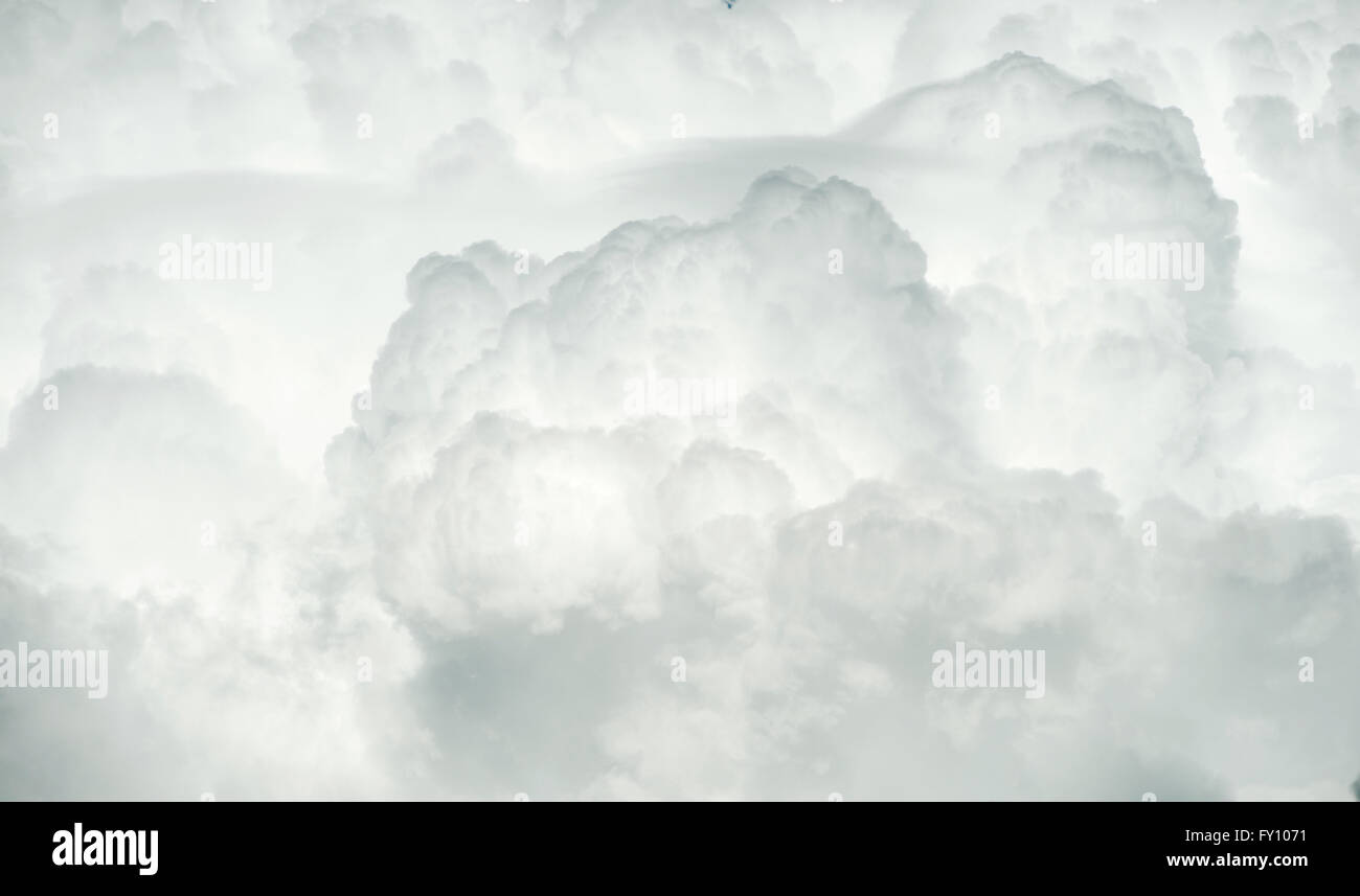 Cumulonimbus storm cloud background - Stock Image
