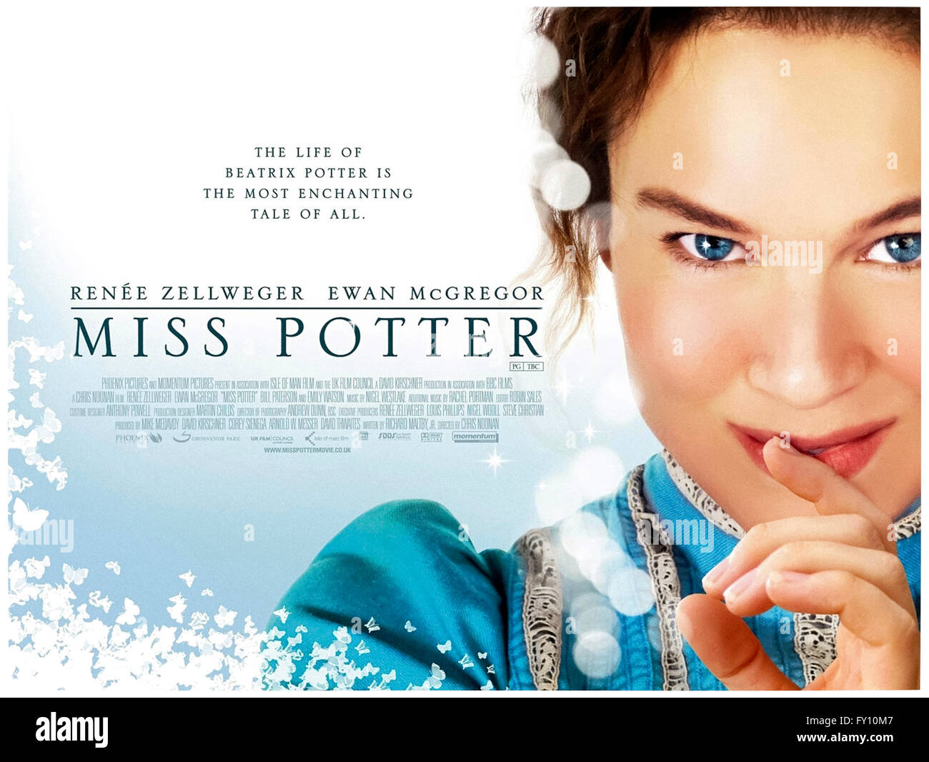'Miss Potter' 2006 film about Beatrix Potter the author of the much loved 'The Tale of Peter Rabbit' children's - Stock Image