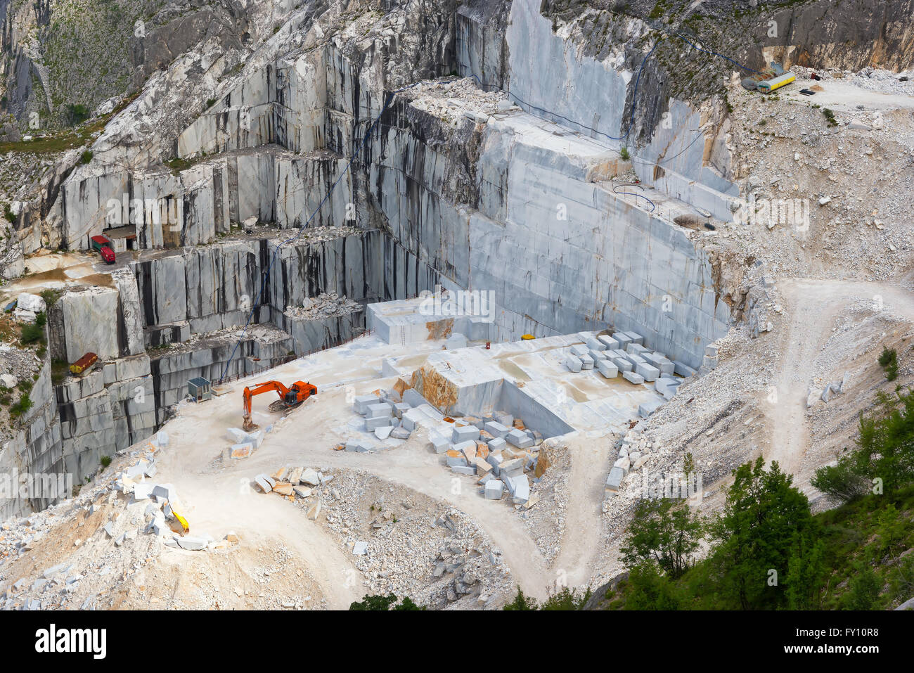 Carrara marble quarry, Tuscany, Italy - Stock Image