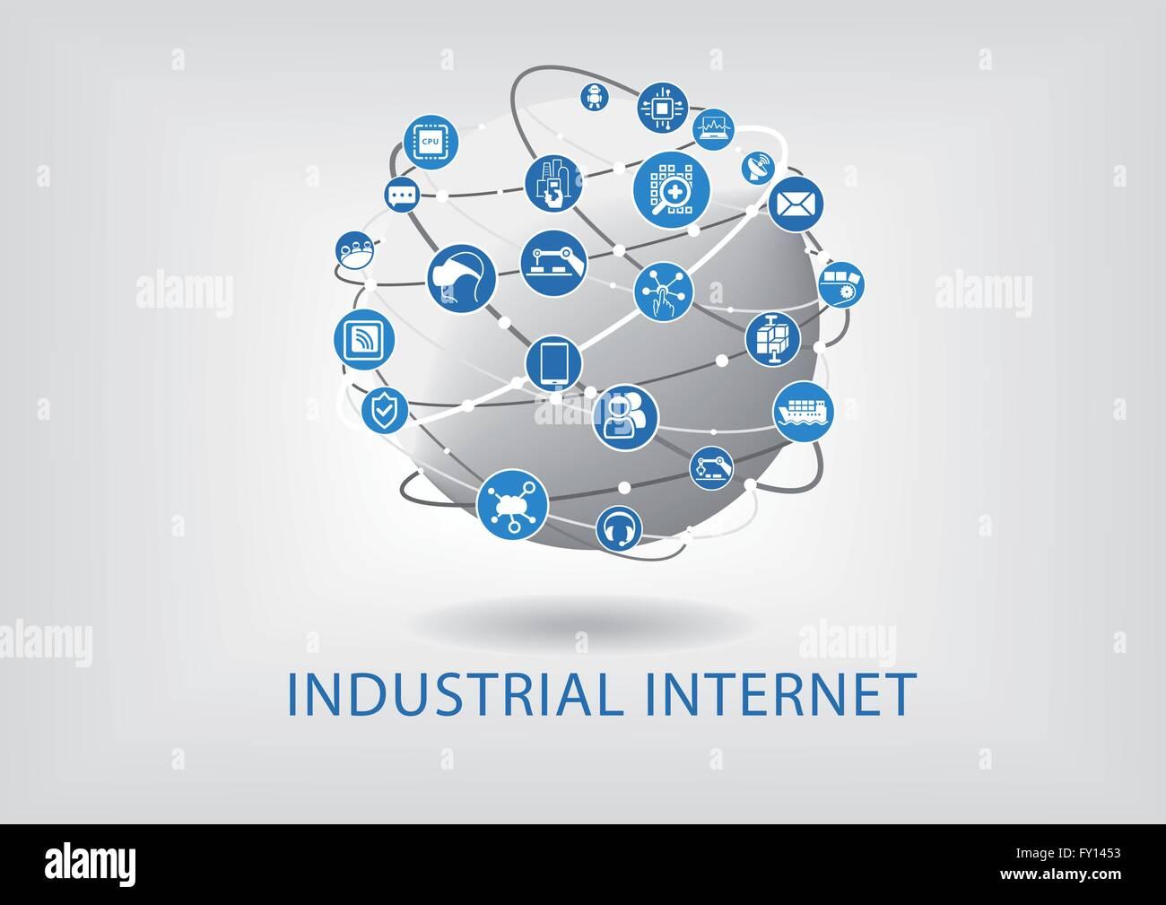 Industrial internet concept - Stock Vector