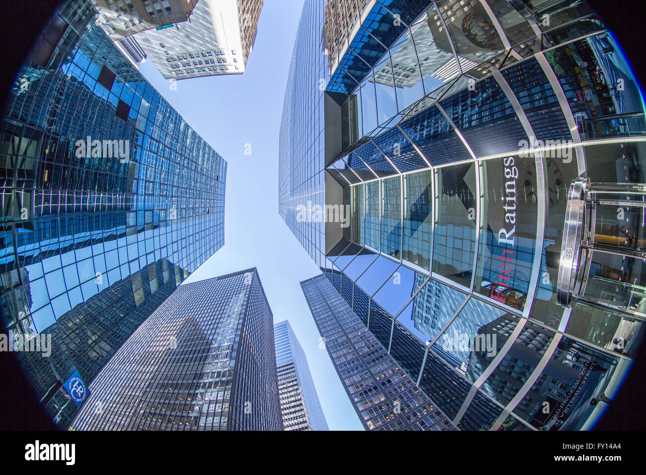 Headquarter Fitch Ratings Manhattan, Financial District, NYC - Stock Image