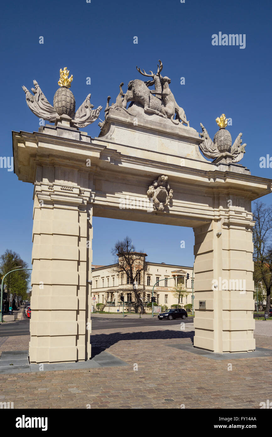 Jaegertor, historic City gate,  Potsdam, Havel, Brandenburg - Stock Image