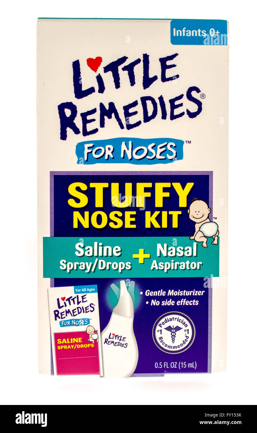 Winneconne, WI -15 Oct 2015:  Box of Little Remedies for noses and infants. - Stock Image