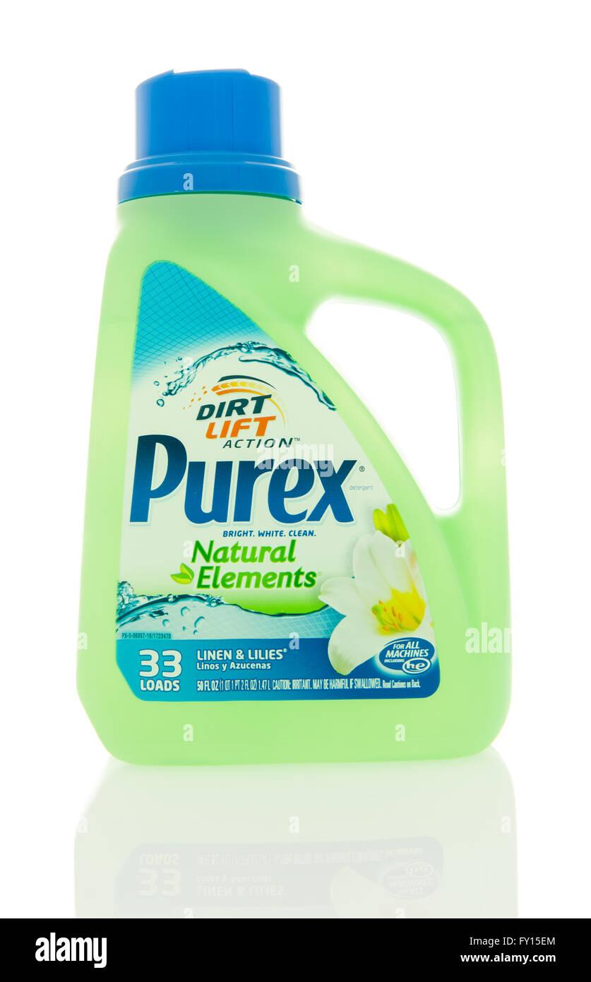 Winneconne, WI - 4 Feb 2016:  Bottle of Purex laundry detergent. - Stock Image