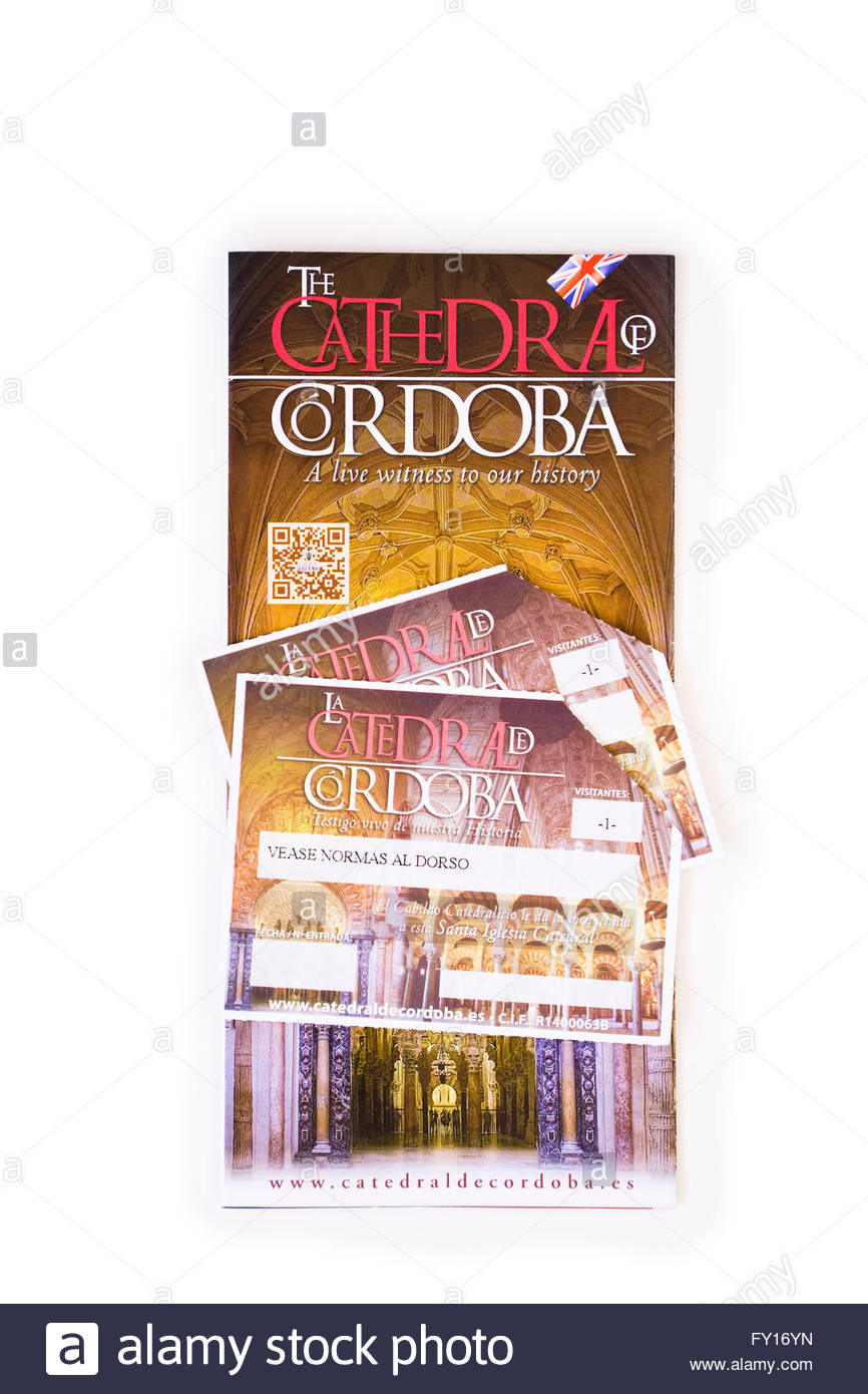 Travel brochures for Cordoba and Cathedral, Spain. - Stock Image