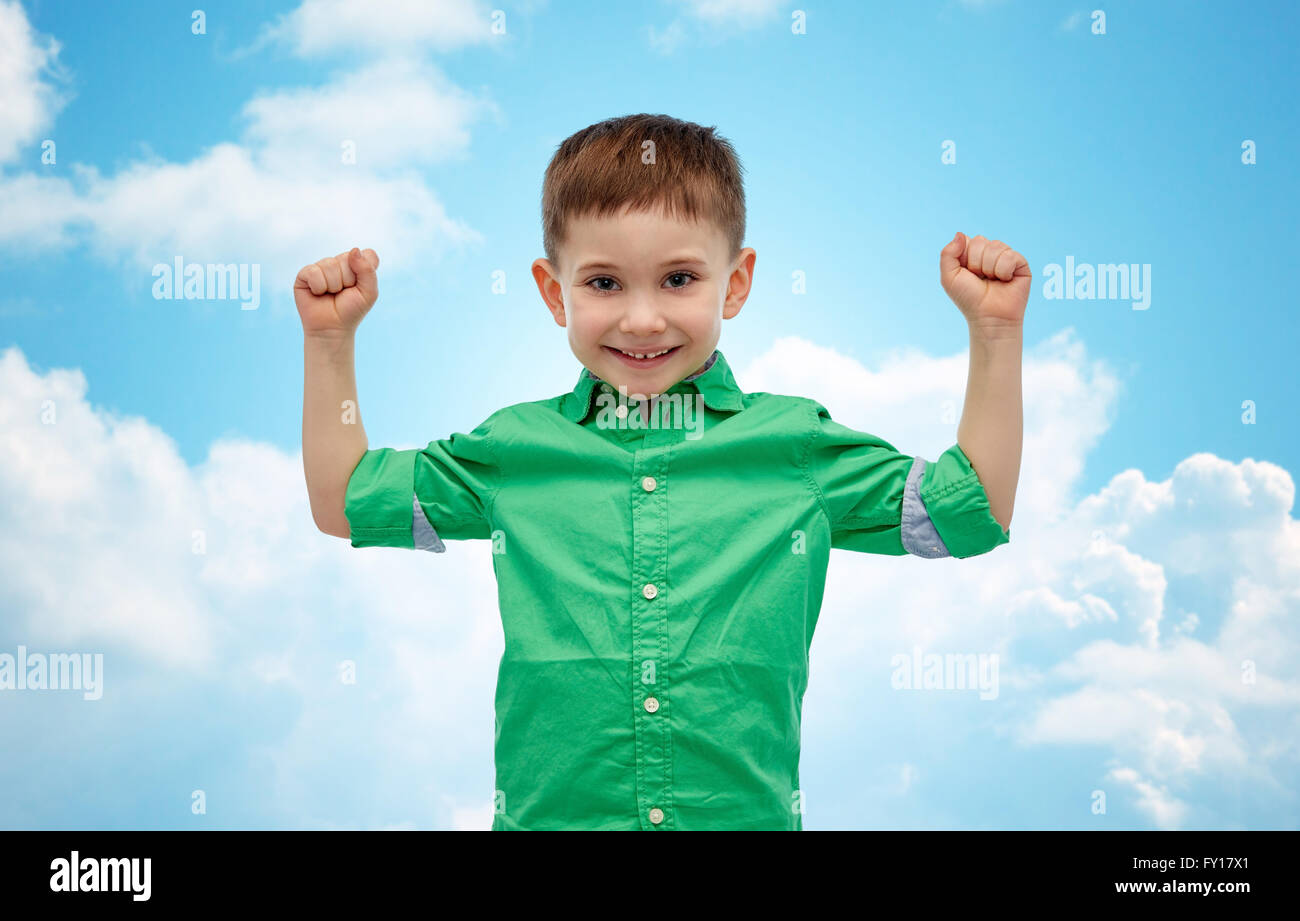 2edb1221fa408 happy smiling little boy with raised hand Stock Photo: 102675721 - Alamy