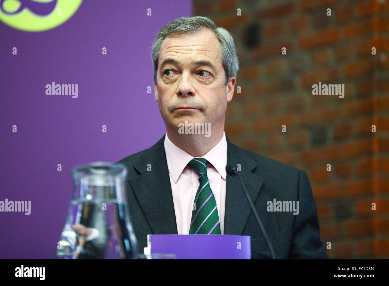London, UK. 19th April, 2016. UKIP leader Nigel Farage joins Peter Whittle, London Mayoral candidate and the UKIP - Stock Image