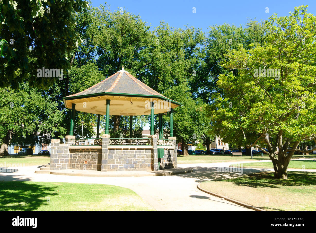 Bandstand in Cook Park, Orange, New South Wales, Australia - Stock Image