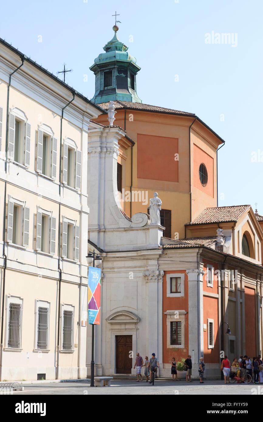 Chiesa di Santa Maria del Suffragio in Ravenna, Emilia-Romagna, Italy. Stock Photo