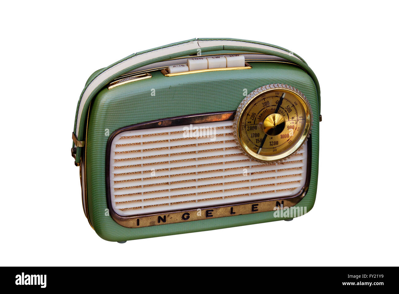 Old portable radio, 1950s - Stock Image
