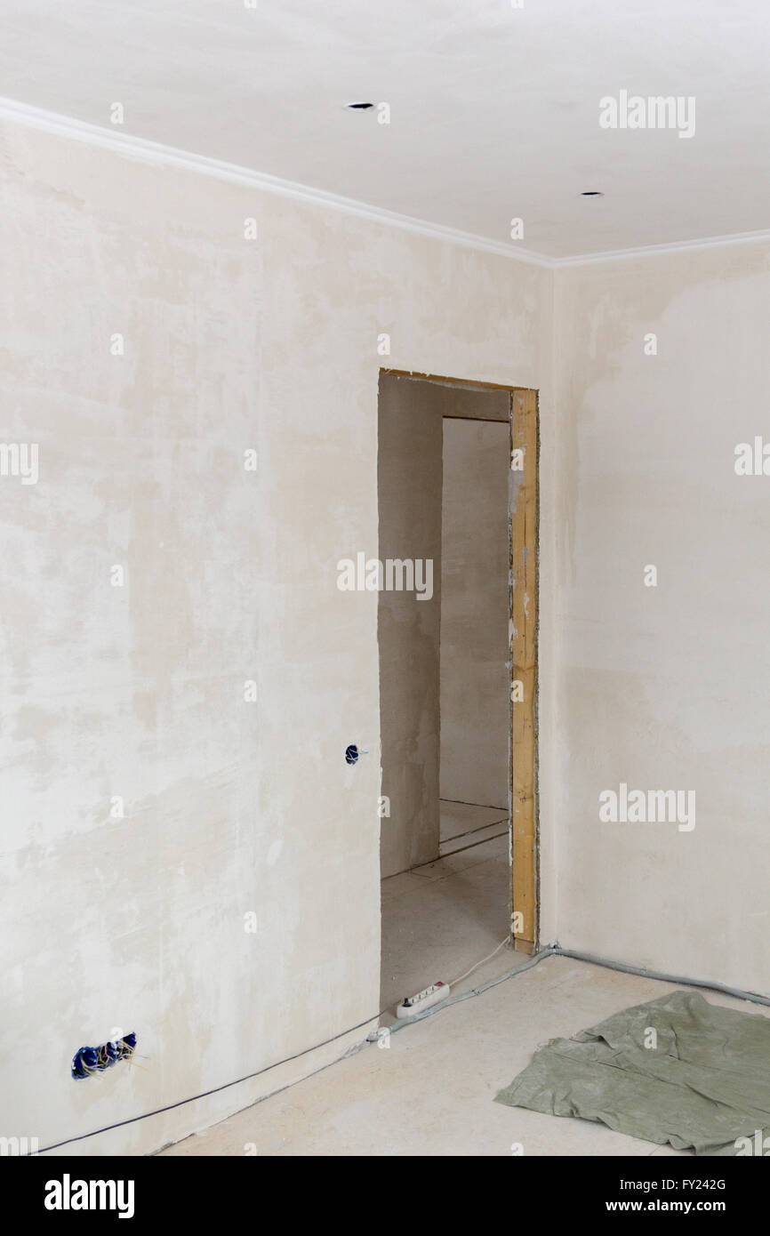 Plastered Walls And A Doorway Without A Door   Stock Image
