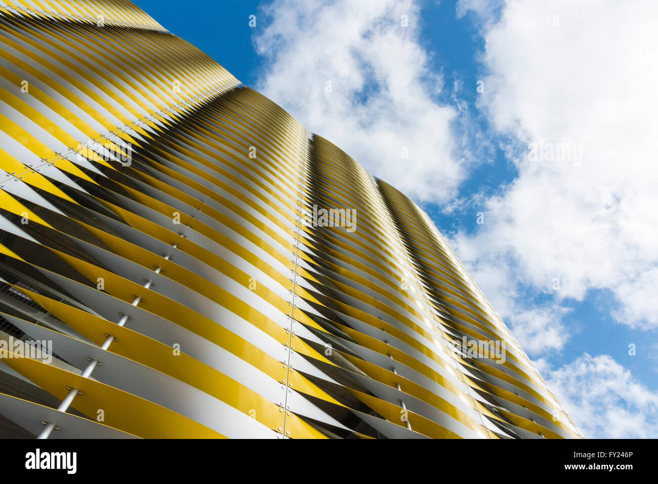 Car Park 2, a new car park, modern architecture, at Addenbrookes hospital Cambridge UK Stock Photo