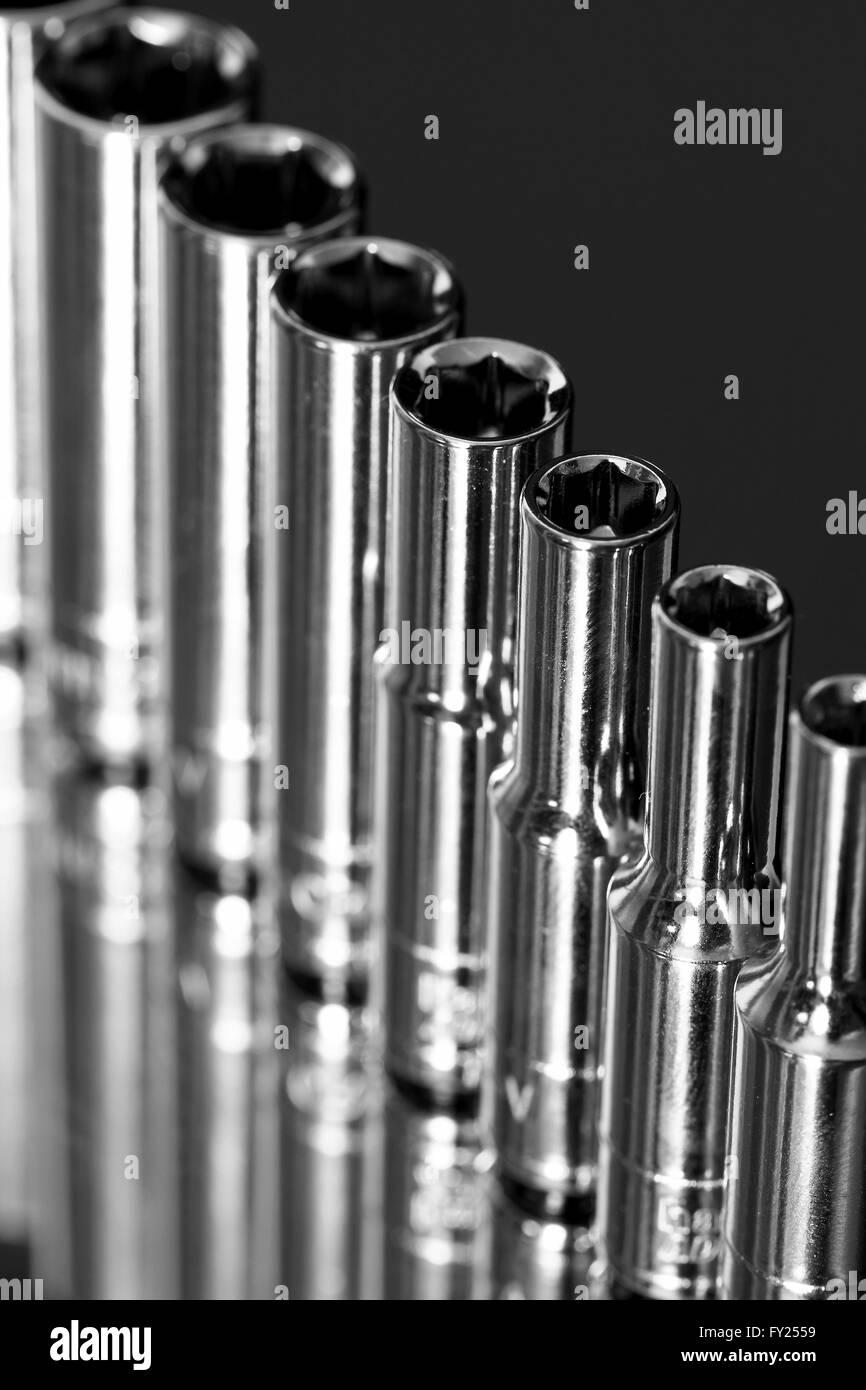 Sockets tool reflection Stock Photo