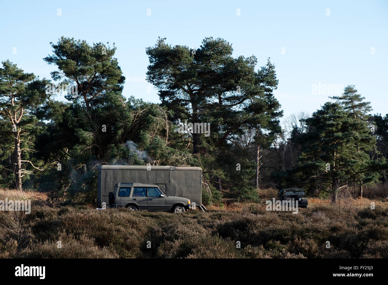 New age traveller, Sutton Heath, Suffolk, UK. - Stock Image