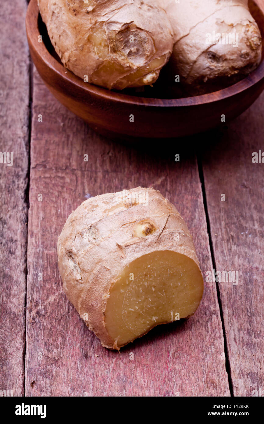 fresh ginger - Stock Image
