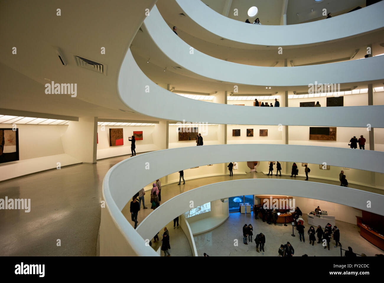 The interior of the Solomon R. Guggenheim Museum, Manhattan New York - Stock Image