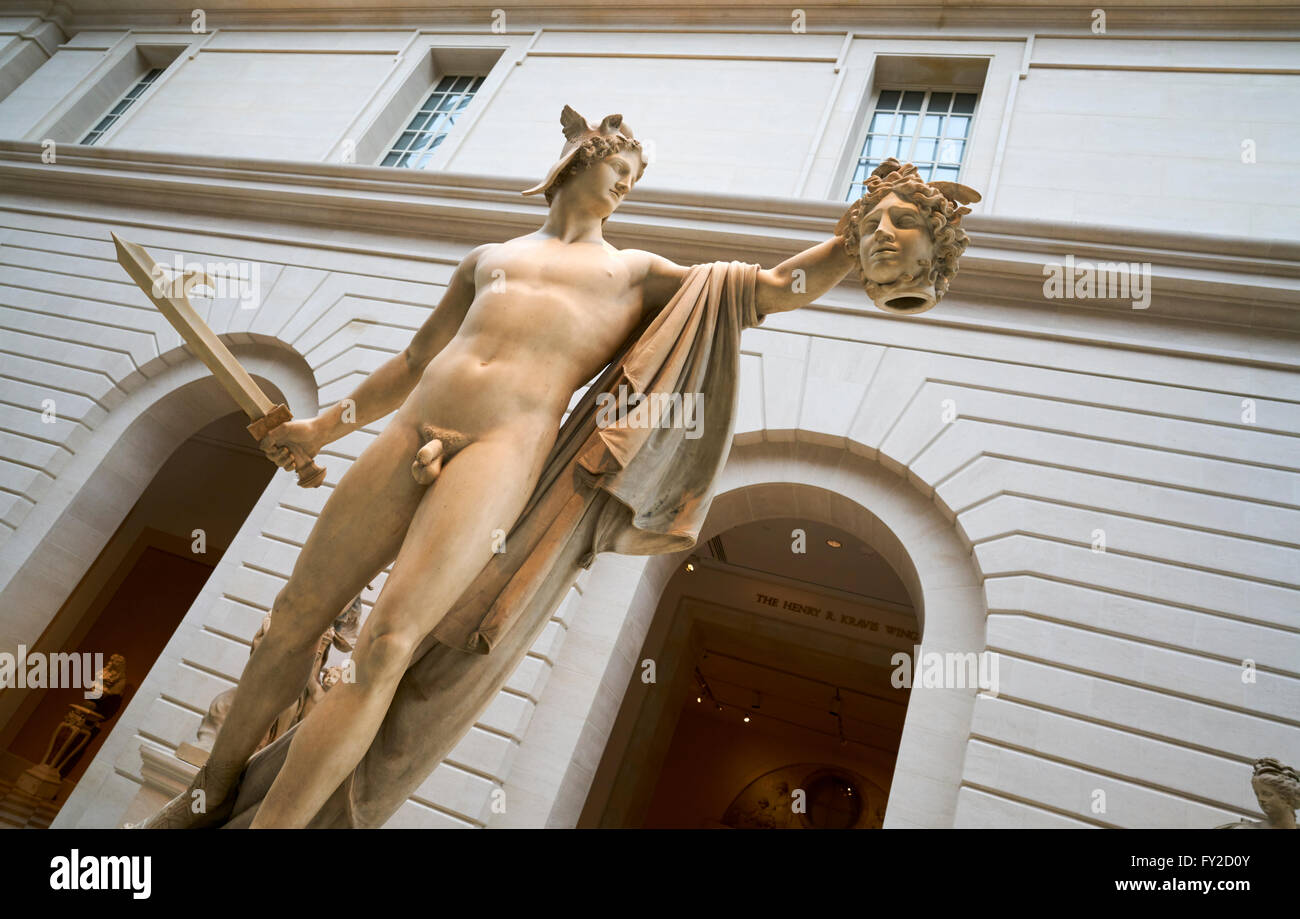 Carroll and Milton Petrie European Sculpture Court. The Metropolitan Museum of Art. Manhattan New York - Stock Image