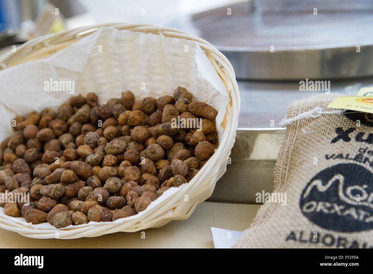 Horchata, tiger nuts of Valencia Spain - Stock Image