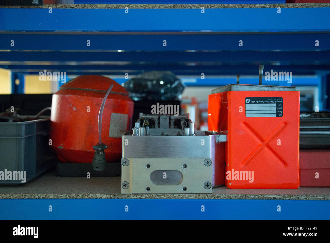 Black Box at the AAIB Aircraft Accident investigation Brach - Stock Image
