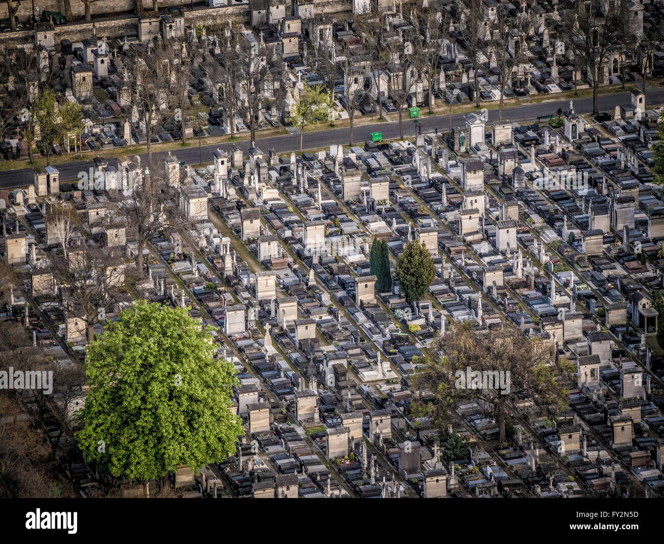 Montparnasse cemetery, Paris, France. - Stock Image
