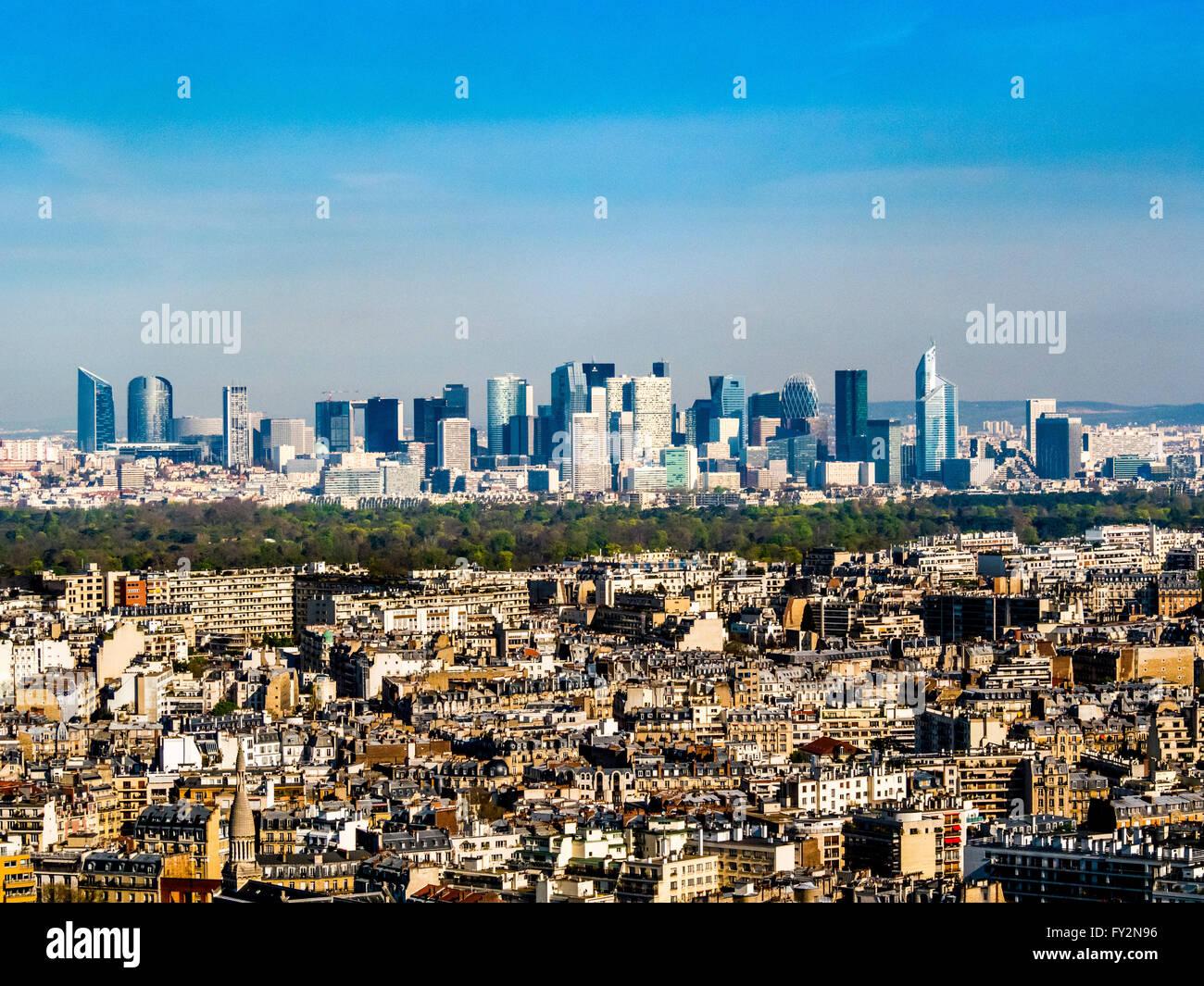 La Defense, Business district, Paris, France. - Stock Image