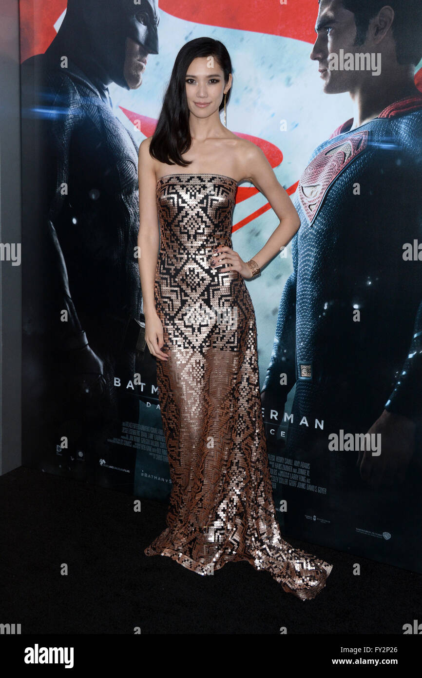 'Batman Vs Superman: Dawn Of Justice' New York Premiere - Red Carpet Arrivals  Featuring: Tao Okamoto Where: - Stock Image