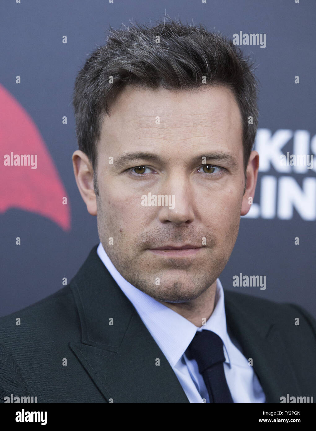 NY Premiere of Batman vs Superman Dawn of Justice  Featuring: Ben Affleck Where: New York, New York, United States - Stock Image