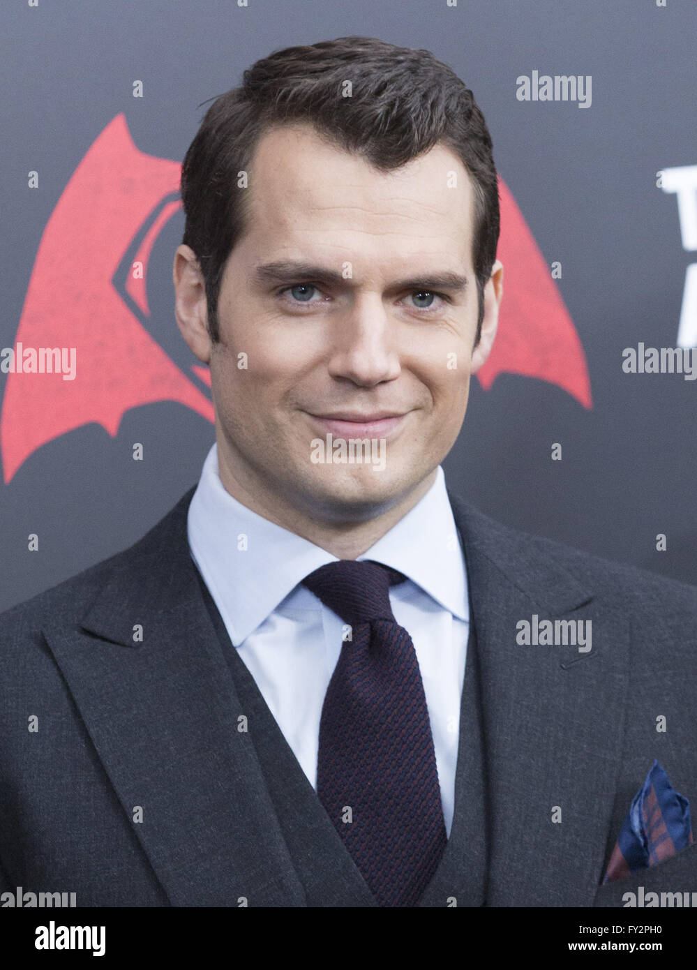 NY Premiere of Batman vs Superman Dawn of Justice  Featuring: Henry Cavill Where: New York, New York, United States - Stock Image