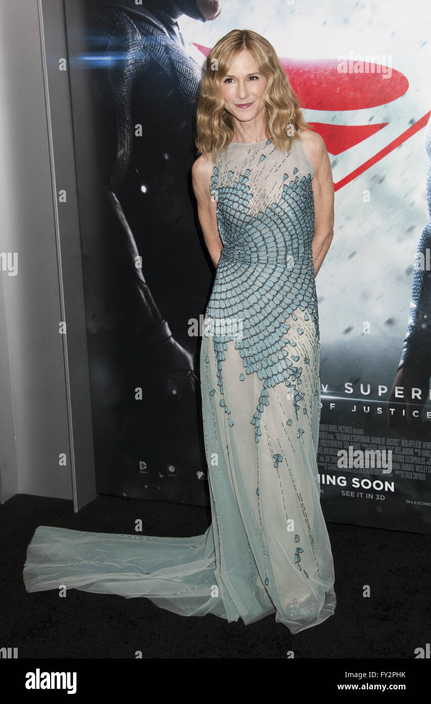 NY Premiere of Batman vs Superman Dawn of Justice  Featuring: Holly Hunter Where: New York, New York, United States - Stock Image