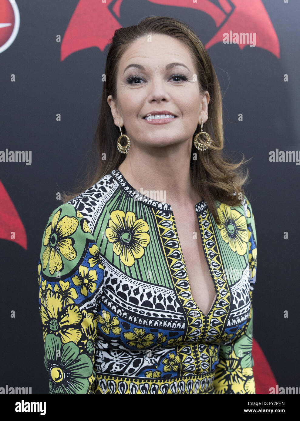 NY Premiere of Batman vs Superman Dawn of Justice  Featuring: Diane Lane Where: New York, New York, United States - Stock Image