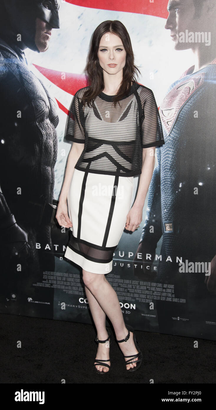 NY Premiere of Batman vs Superman Dawn of Justice  Featuring: Coco Rocha Where: New York, New York, United States - Stock Image