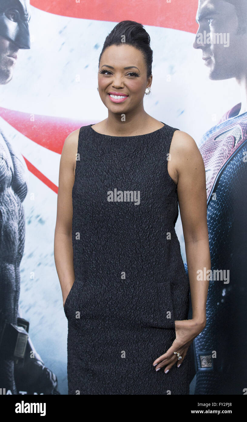 NY Premiere of Batman vs Superman Dawn of Justice  Featuring: Aisha Tyler Where: New York, New York, United States - Stock Image