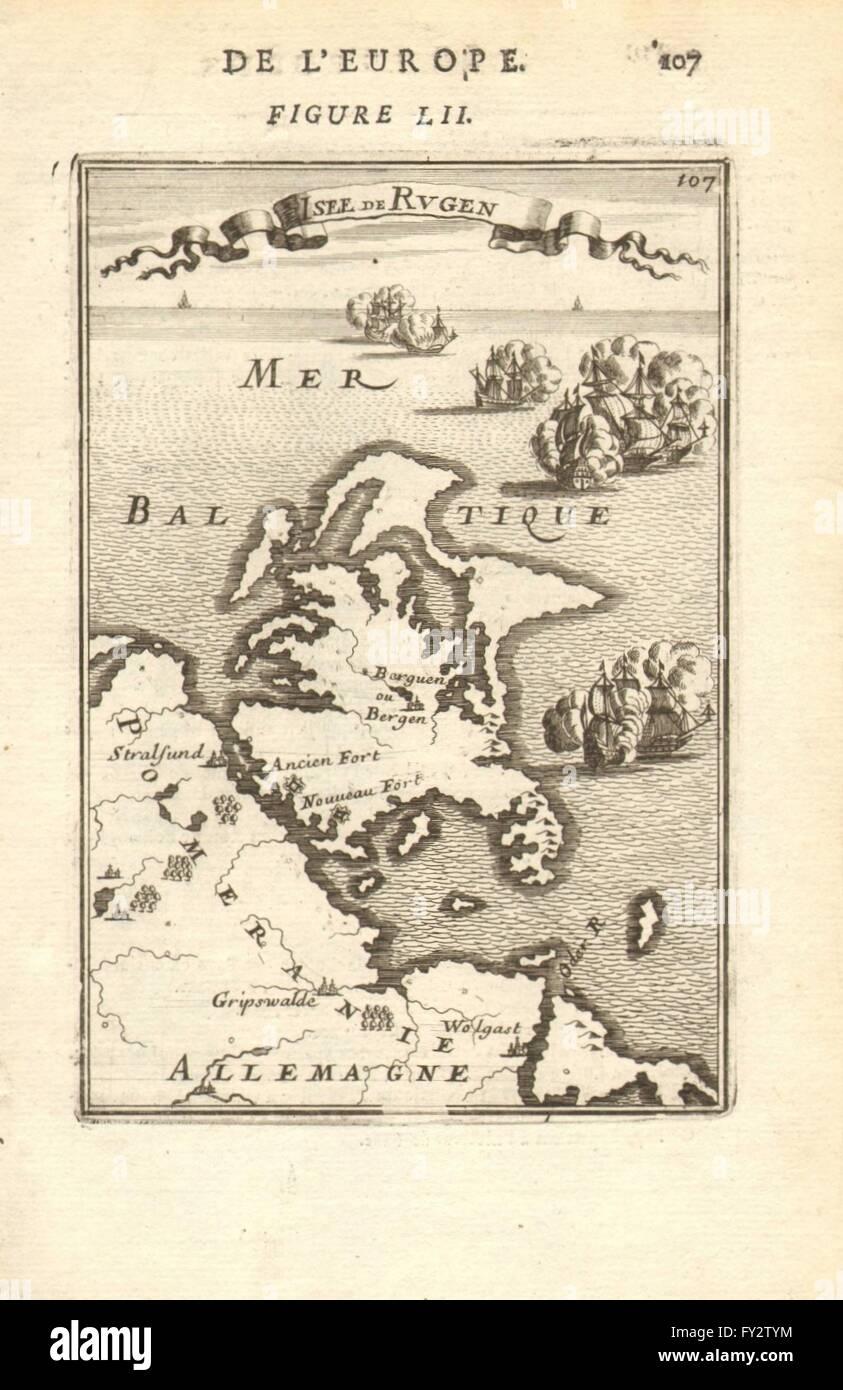 Pommern Germany Map.Rugen Isle De Rugen Pomeranian Coast Germany Pommern Mallet