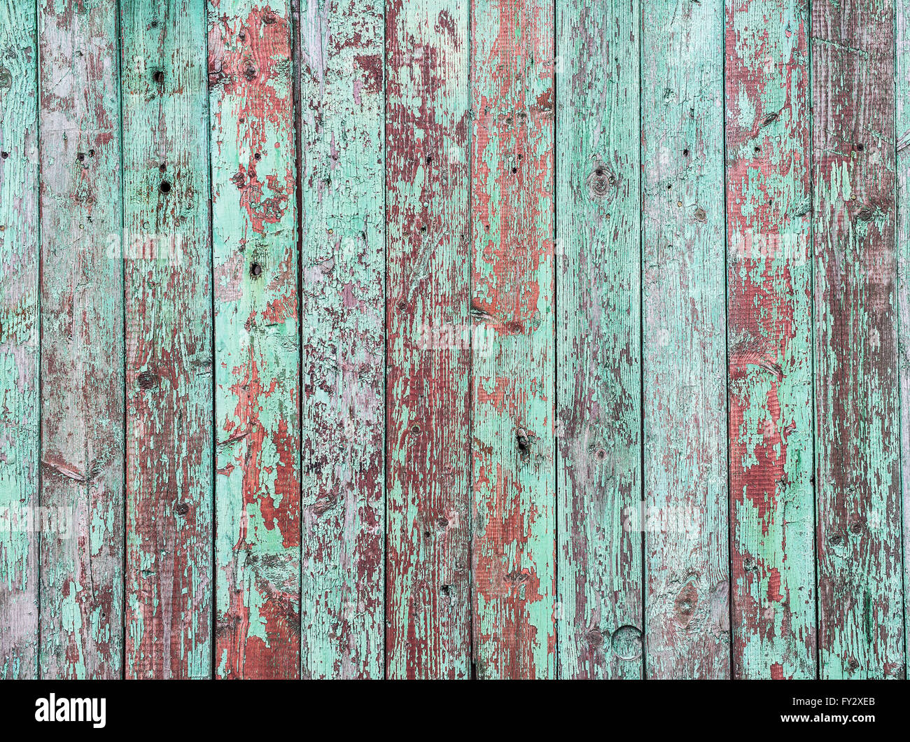 Old Green Crackle Paint On The Wooden Background Stock