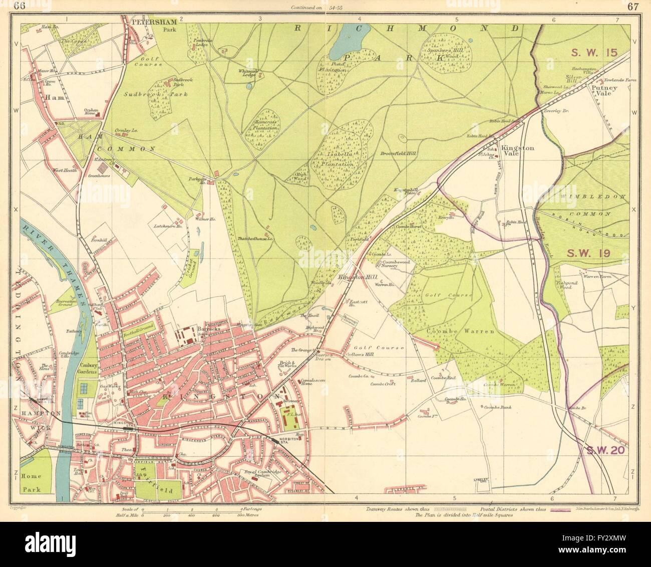 Richmond London Map.London Sw Richmond Wimbledon Putney Twickenham Kingston Upon Thames