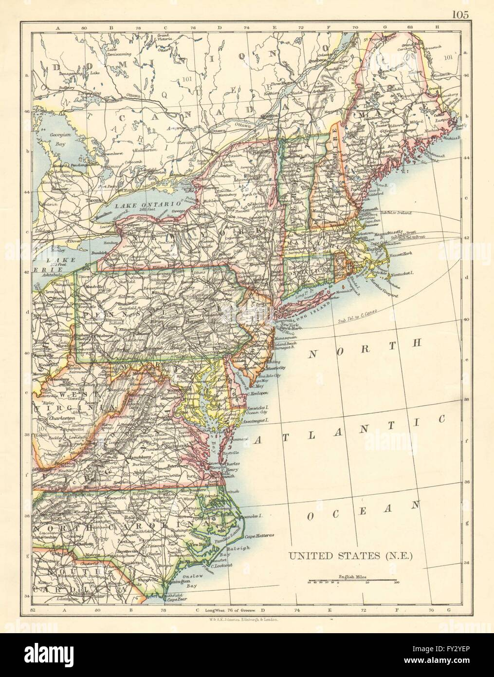 UNITED STATES NORTH EAST. New England Appalachia Atlantic states ...