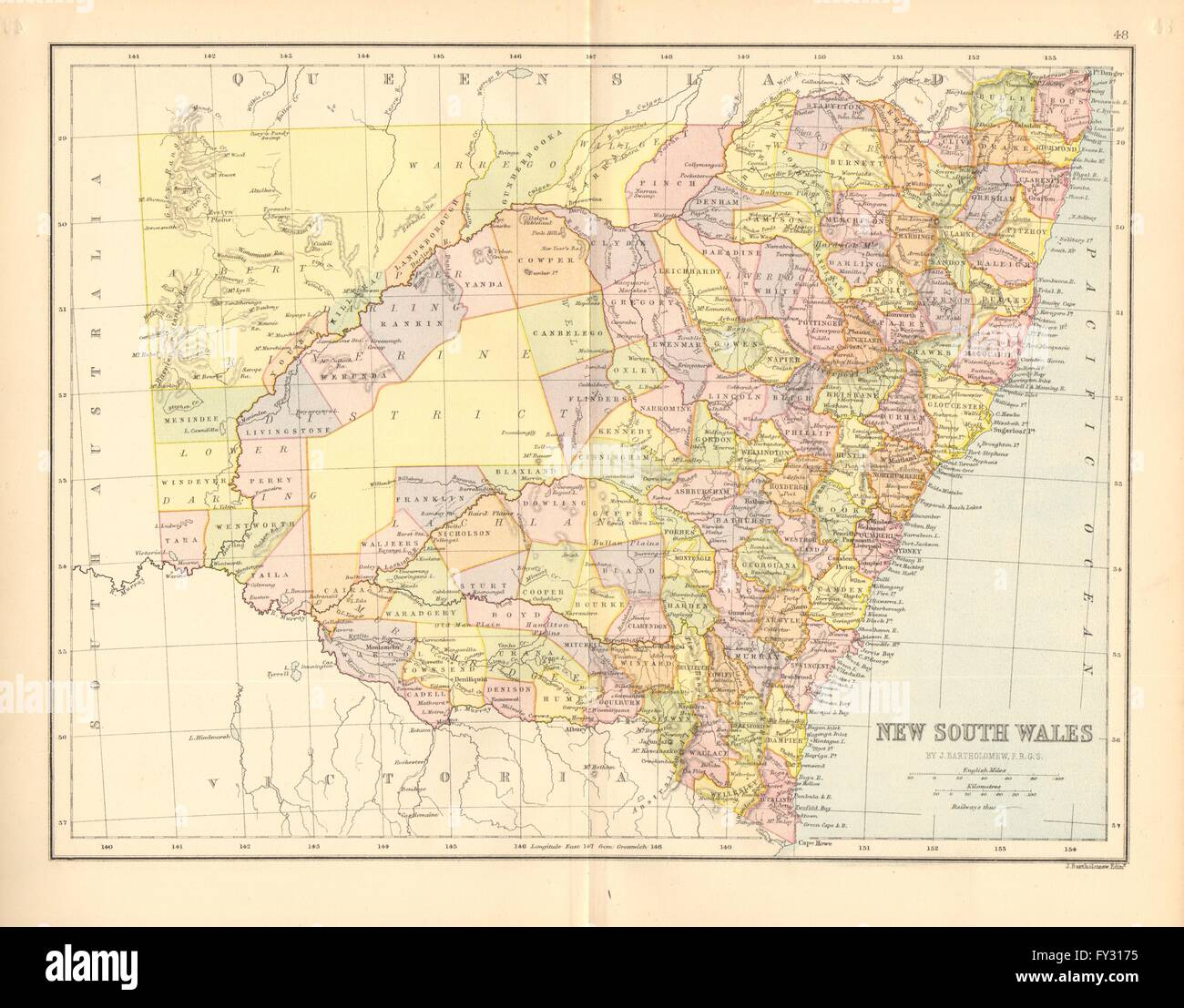 NEW SOUTH WALES. State map. Shows counties/districts/railways Stock on best road trip map, greater seattle area map, intermountain west map, northeastern us map, usa map, eastern us map, state flag map, continental u.s. map, asia pacific region map, natural gas fracking map, mid-atlantic region map, southern u.s. map, local map, tri-state area map, new york senate district map, east of mississippi map, greater boston area map, los angeles area map, michigan state map, idaho state map,