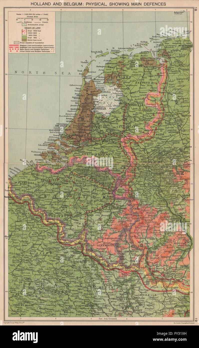 World war 2 netherlands belgium defences maginot siegfried world war 2 netherlands belgium defences maginot siegfried lines 1940 map gumiabroncs Image collections