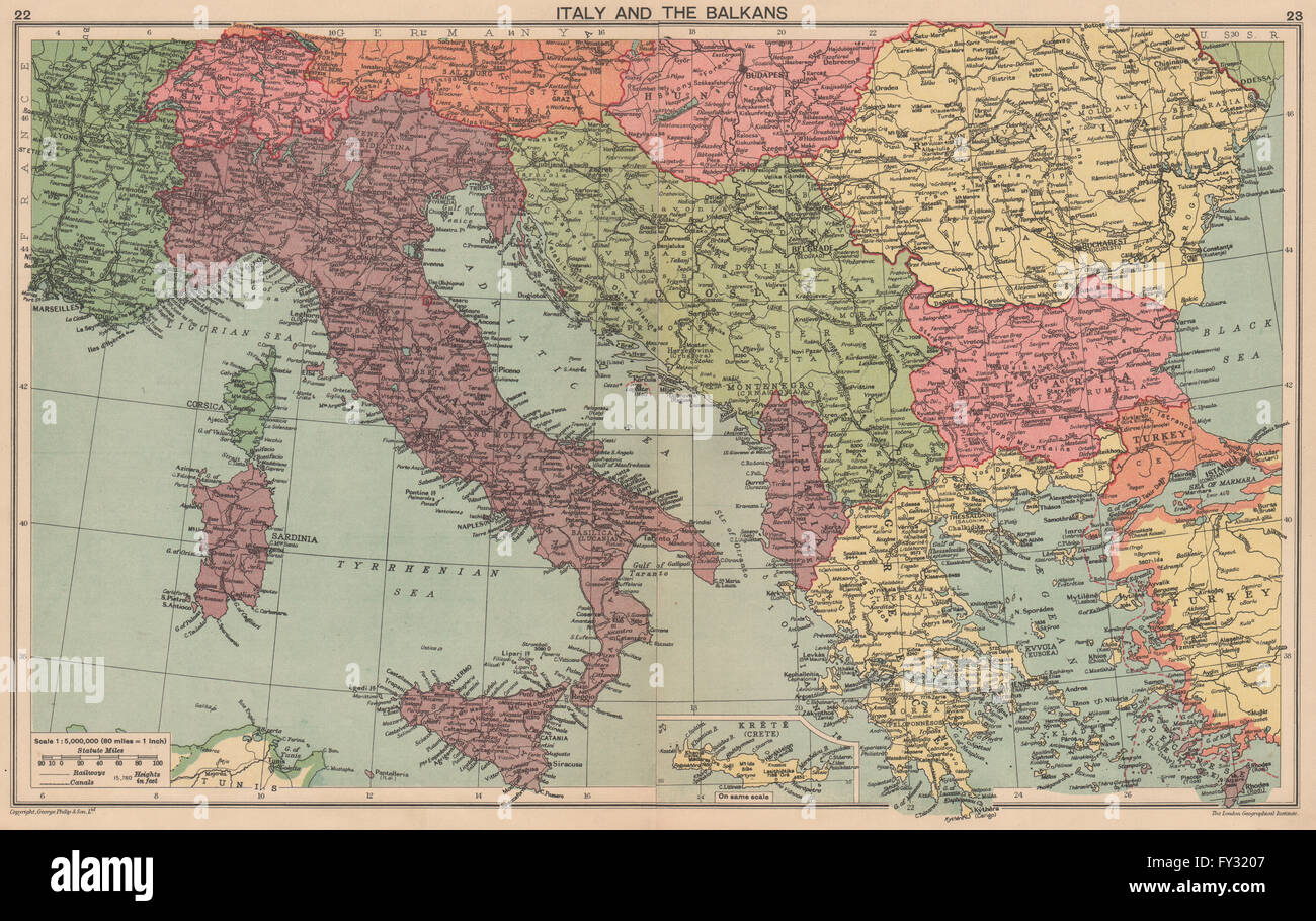 WORLD WAR 2: Italian Istria Zara Lagosta Dodecanese Albania. Balkans ...