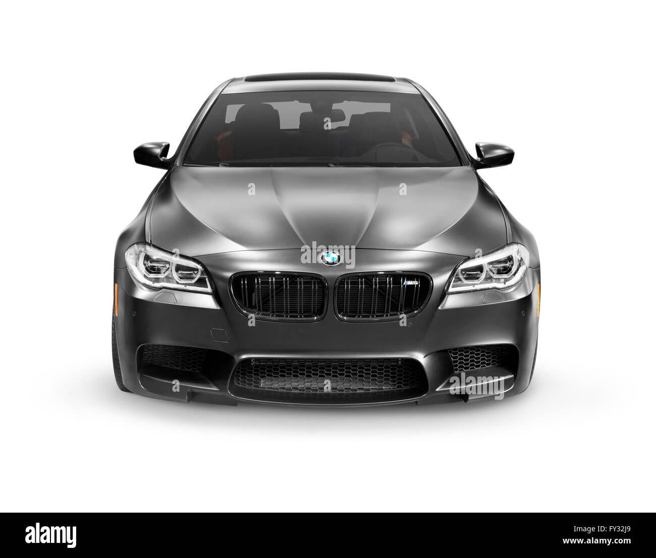 Matte Black 2015 Bmw F10 M5 Luxury Car Stock Photo 102715489 Alamy