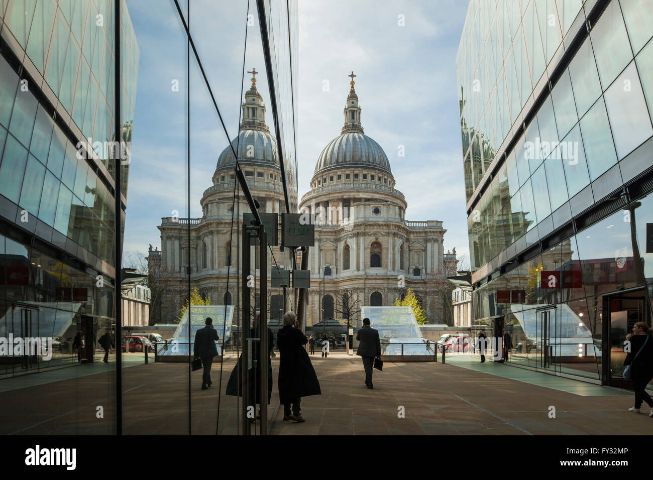 St Paul's Cathedral seen from One New Change, London, England. - Stock Image