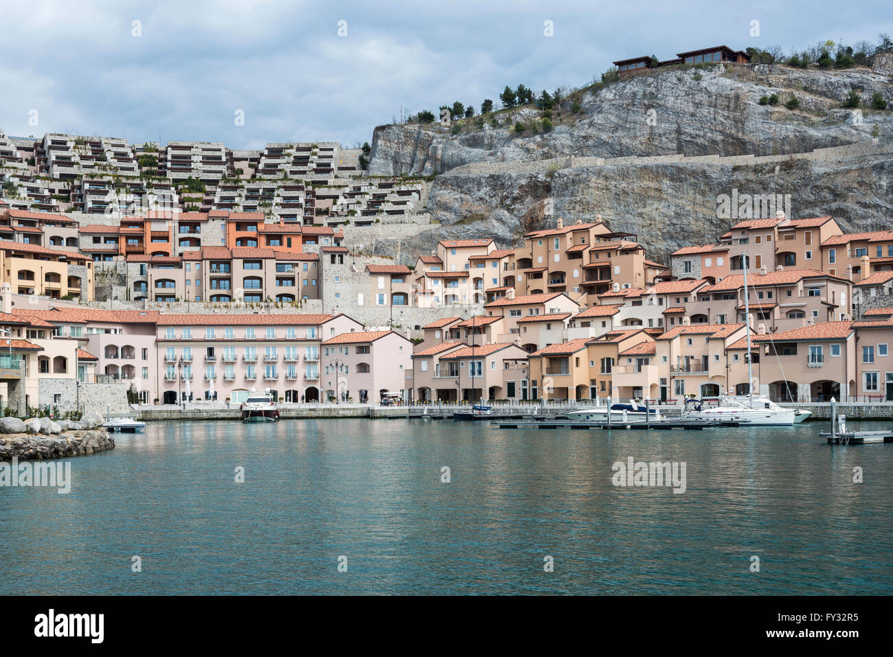 Porto Piccolo, exclusive holiday resort on the Adriatic coast, town of Sistiana, Duino-Aurisina, Province of Trieste - Stock Image