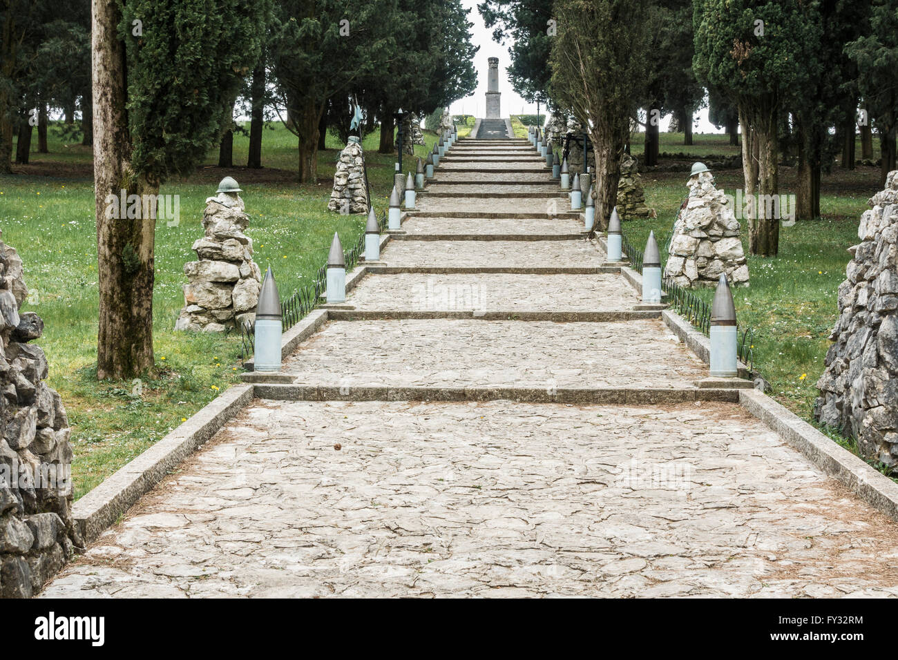 Park of Remembrance, Open Air Museum World War I on the Colle Sant'Elia hill, Isonzo, Redipuglia, Province of - Stock Image