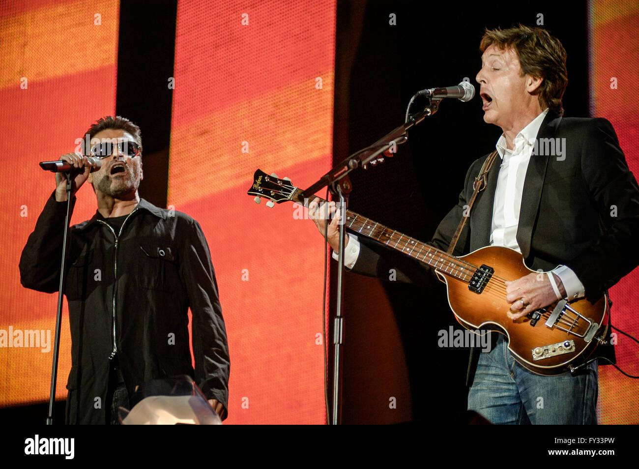 2 July 2005 Paul McCartney And George Michael